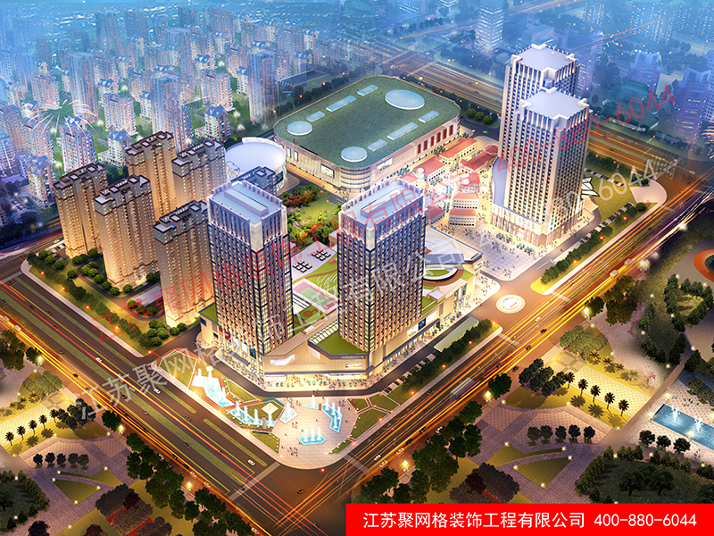 国金地产滁州世界贸易广场,鸟瞰图、景观透视图历时一个多月完工